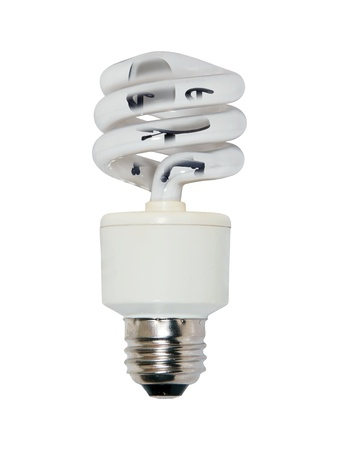 efficiently: Office lighting with an office chair inside a spiral glass bulb lightbulb used to light a room efficiently