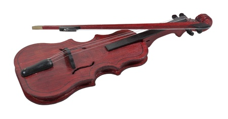 violin making: Classical wooden Violin with bow for making music - path included