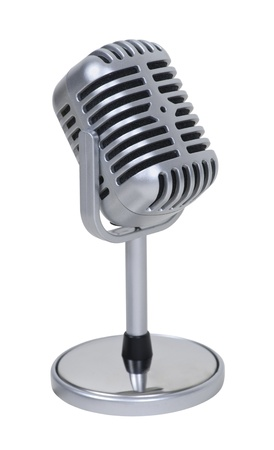 Retro pill audio microphone used to amplify communication Stock Photo - 9477720
