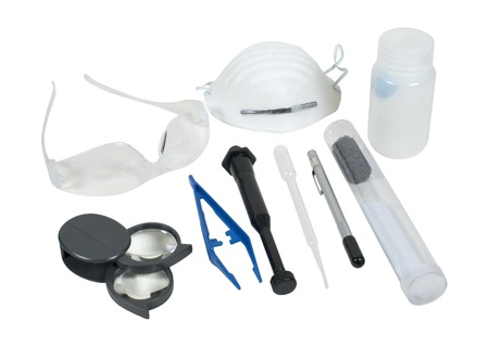 A series of different forensic tools - path included Stock Photo - 9714765