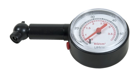 pressurized: Black pressure gauge to measure the pressure of a pressurized object - path included Stock Photo