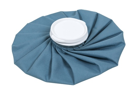 plisse: Retro pleated blue ice pack for first aid use - path included Archivio Fotografico