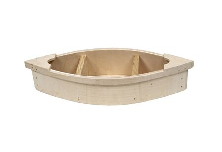 sturdy: Simple wooden boat with sturdy sides and reinforced ends - path included