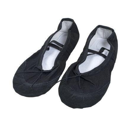 zapatillas de ballet: Zapatillas de ballet negro usados mientras se baila ballet