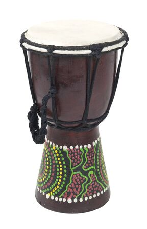 djembe: Tall Aboriginal Djembe drum with knotted handle - path included