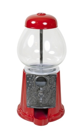Vintage metal and glass gumball machine - path included