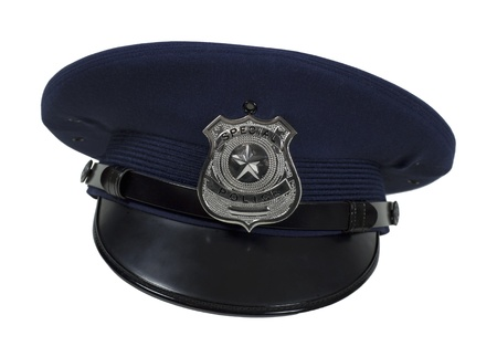 star path: Silver special police badge with a star on a large cap - path included
