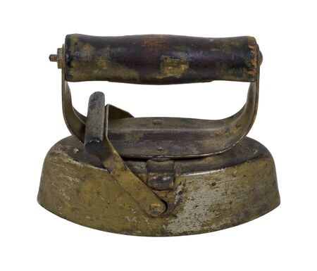 neatness: Antique cast iron used to iron clothing to be wrinkle free