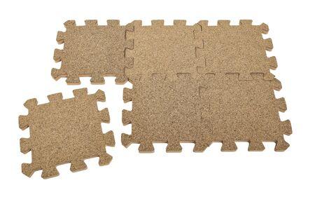 De invoering van het laatste stukje van de puzzel aan de raad te voltooien - pad opgenomen Stockfoto