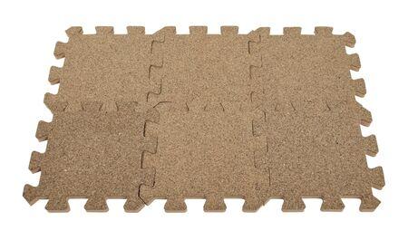 Puzzelstukjes vergrendeld samen om een solide patroon te maken - pad opgenomen Stockfoto
