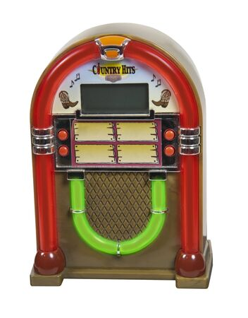 Old fashioned jukebox used to play records - path included photo
