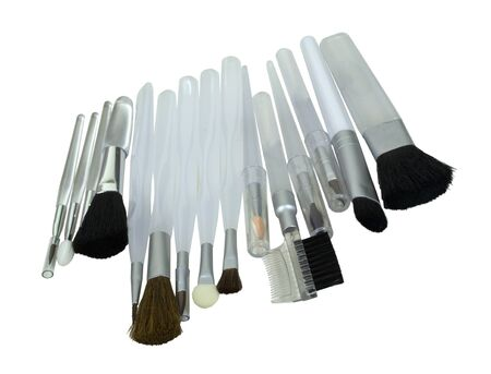 아름다움 연대 - 경로 포함하는 동안 다른 화장품을 적용하는 데 사용하는 코스메틱 브러쉬의 다양 한