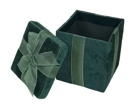 Open velvet gift box used to give presents - path included