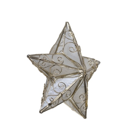 five star: Five point pearled star with gold trim pieces - path included