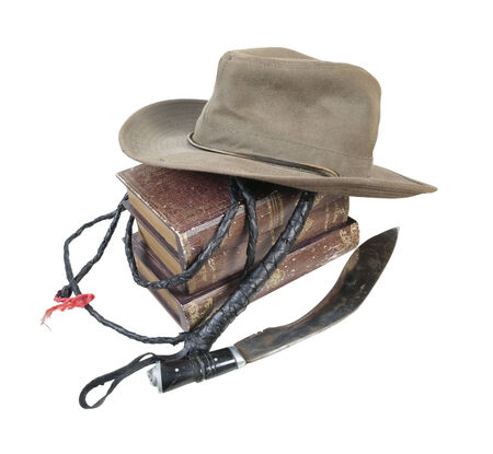 Adventure Books Aussie Hat Whip Dagger - path included