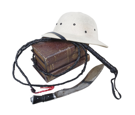 pith: Exploration Adventure Books Pith Helmet Whip Dagger- path included