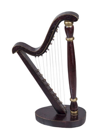 resonator: A harp is a stringed musical instrument - path included