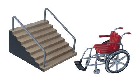 aide � la personne: Fauteuil roulant utilis� pour l'assistance au transport personnel lorsque les m�thodes ambulatoires ne sont pas disponibles - chemin inclus
