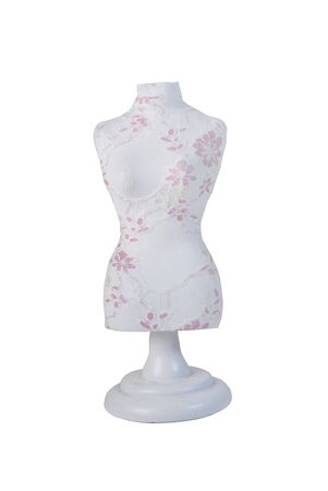merchandising: Lace Covered Dress Form used for dressmaking and merchandising Stock Photo