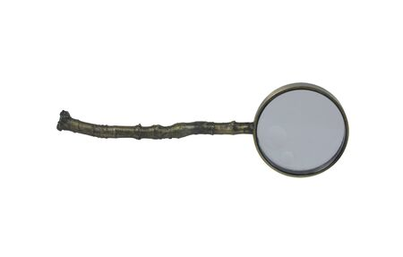 environmentally: Magnifying glass made to resemble a tree branch used to get a closer view on things that are environmentally green - path included