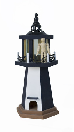 parapet: Standing on the parapet of a lighthouse - path included