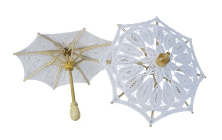 White Lace Umbrellas with Sturdy Handle - path included