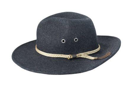 Dark Felt Hat with braided cord - path included