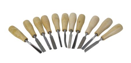 chisels: Wood Carving Chisels with wooden handles - path included