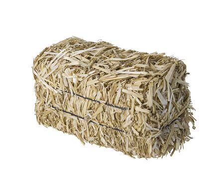 bundled: Large bale of bundled yellow hay - path included