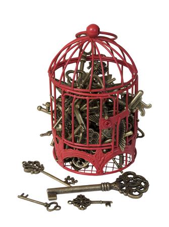 Antieke sleutels die een idee in Birdcage ontsluiten - inclusief pad