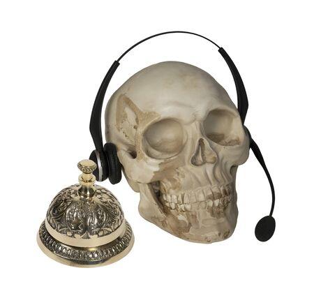 Schedel met audiomicrofoon en servicebel - inclusief pad