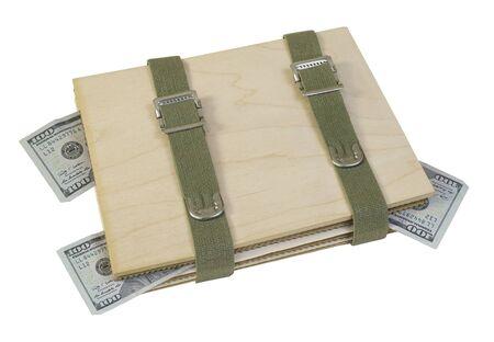 Bloempers bestaande uit vloeipapier in golfkarton met geldpad inbegrepen