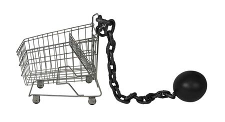 convicts: Large metal ball and chain made to hamper movement Stock Photo