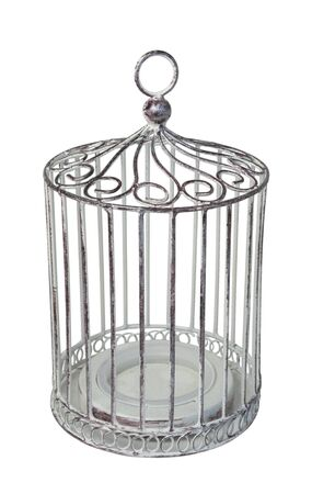 Birdcage is used to keep a pet bird comfortable - path included