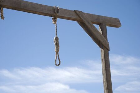 Noose Hanging from Gallows - path included