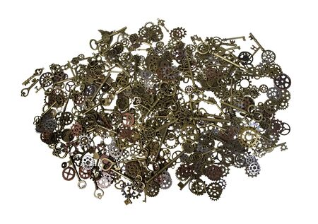 Antique Keys, Cogs and Gears - path included