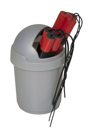 Dynamite in a Garbage Can - path included