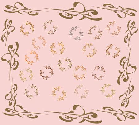 gentile: Pattern on light rose background Illustration