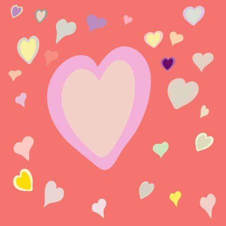 gentile: Heart on rose background