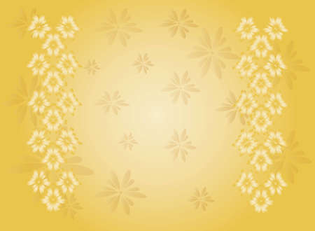 gentile: Postcard with floral background in light tones
