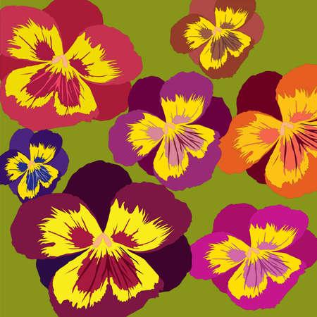 Flowerses, illustration, postcard Vector