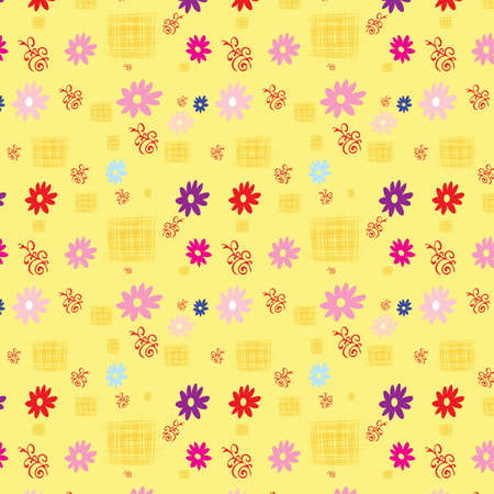 gentile: Seamless background with miscellaneous elements, illustration