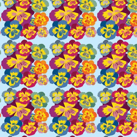Seamless floral background, vector, illustration, postcard Illustration