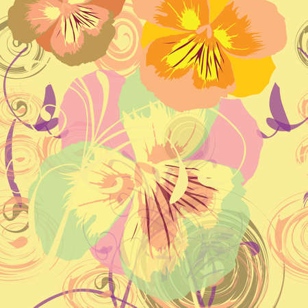 gentile: Floral background, illustration, card