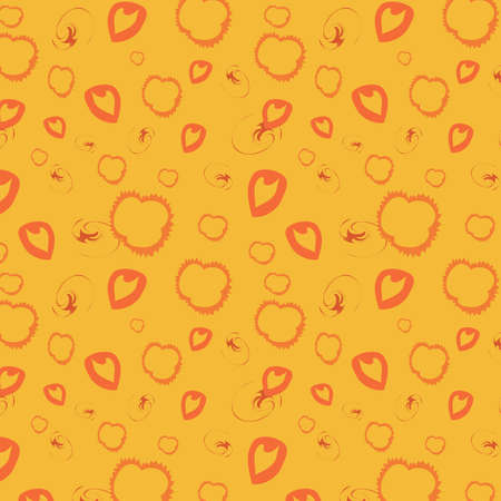 gentile: Orange seamless background, vector, illustration
