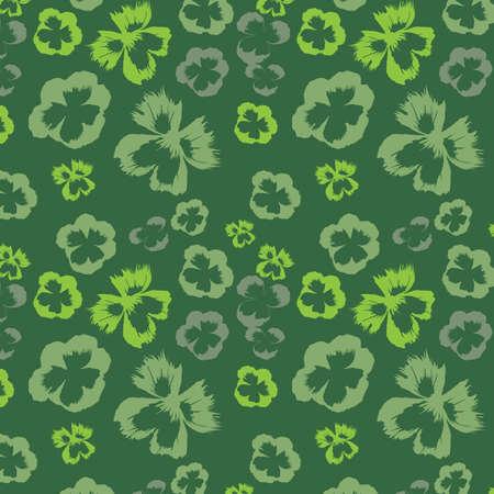 flowerses: Green seamless background, vector, illustration Illustration