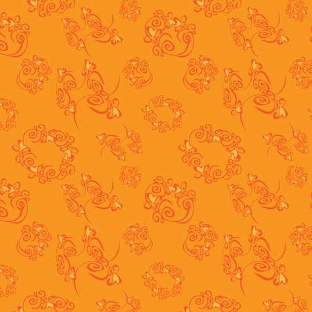 pleasing: Orange seamless background, vector, illustration