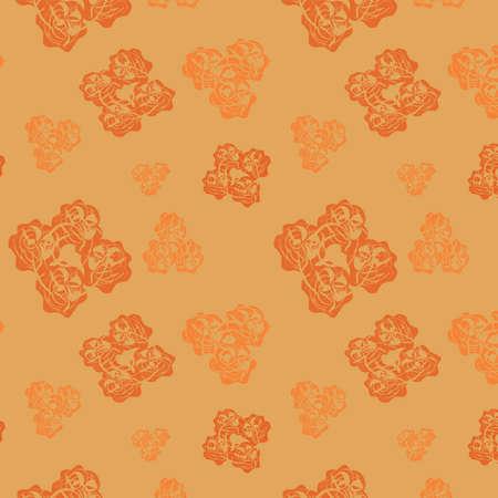 gentile: Seamless beige background, illustration Stock Photo