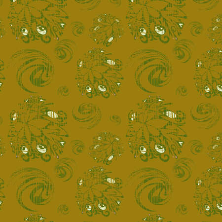 threadbare: Sfondo trasparente con elementi verdi, illustrazione