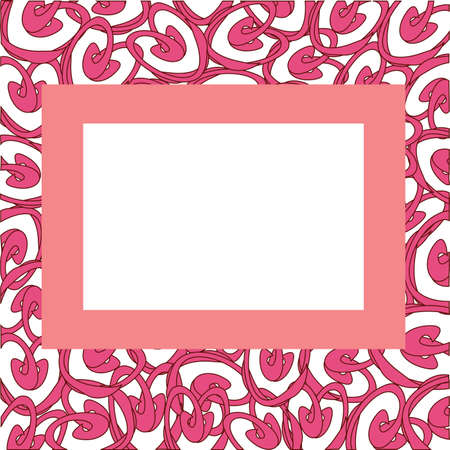 gentile: Frame with abstract hearts,illustration